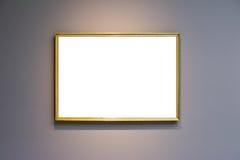 Πλαίσιο Μουσείων Τέχνης χλωμό - μπλε λευκό σχεδίου τοίχων περίκομψο ελάχιστο Στοκ εικόνες με δικαίωμα ελεύθερης χρήσης