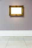 Πλαίσιο Μουσείων Τέχνης χλωμό - μπλε λευκό σχεδίου τοίχων περίκομψο ελάχιστο Στοκ Φωτογραφίες