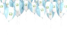 Πλαίσιο μπαλονιών με τη σημαία της Γουατεμάλα Στοκ Φωτογραφία