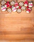 Πλαίσιο μπισκότων Χριστουγέννων ή βαλεντίνων με το κενό διάστημα για το κείμενο σχεδίου Βαλεντίνοι, νέα μπισκότα μελοψωμάτων έτου Στοκ εικόνα με δικαίωμα ελεύθερης χρήσης