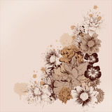 Πλαίσιο λουλουδιών για τις κάρτες Στοκ Εικόνες