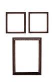 Πλαίσιο που απομονώνεται ξύλινο στο λευκό Στοκ φωτογραφία με δικαίωμα ελεύθερης χρήσης