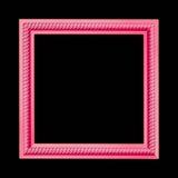 Πλαίσιο που χαράσσεται που απομονώνεται σε ένα μαύρο υπόβαθρο Στοκ εικόνες με δικαίωμα ελεύθερης χρήσης