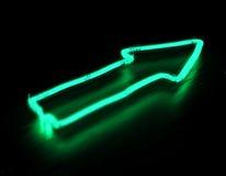 Πλαίσιο σημαδιών Neoan βελών στοκ φωτογραφία με δικαίωμα ελεύθερης χρήσης