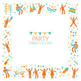 Πλαίσιο συμβόλων κόμματος ανθρώπων Διανυσματική απεικόνιση