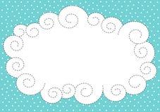Πλαίσιο συνόρων σύννεφων και χιονιού διανυσματική απεικόνιση