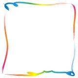 Πλαίσιο συνόρων χρωμάτων διανυσματική απεικόνιση