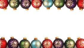 πλαίσιο σφαιρών Χριστουγέννων Στοκ Φωτογραφίες