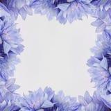 Πλαίσιο σχεδίου λουλουδιών - θέμα με τα λουλούδια Στοκ εικόνες με δικαίωμα ελεύθερης χρήσης