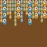Πλαίσιο σχεδίων με τη ζωηρόχρωμη αλυσίδα δαχτυλιδιών Στοκ εικόνα με δικαίωμα ελεύθερης χρήσης