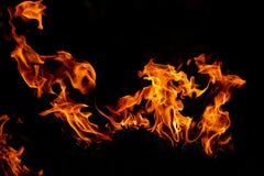 Πλαίσιο της πυρκαγιάς στο σκοτεινό υπόβαθρο Στοκ Φωτογραφία