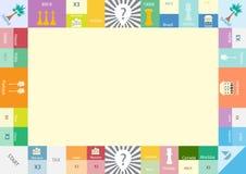 Πλαίσιο του μονοπωλιακού επιτραπέζιου παιχνιδιού, αστείο πλαίσιο για τα παιδιά Στοκ Εικόνες
