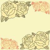Πλαίσιο τριαντάφυλλων Στοκ Φωτογραφία
