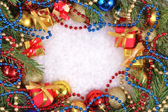 Πλαίσιο των διακοσμήσεων Χριστουγέννων Στοκ Εικόνα