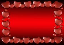 Πλαίσιο των καρδιών την ημέρα του βαλεντίνου Στοκ Φωτογραφίες