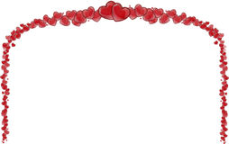 Πλαίσιο των κόκκινων καρδιών, υπόβαθρο της μητέρας με τις καρδιές Στοκ εικόνες με δικαίωμα ελεύθερης χρήσης