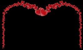 Πλαίσιο των κόκκινων καρδιών, υπόβαθρο της μητέρας με τις καρδιές Στοκ Εικόνες