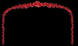 Πλαίσιο των κόκκινων καρδιών, υπόβαθρο του βαλεντίνου με τις καρδιές Στοκ Φωτογραφία