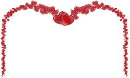 Πλαίσιο των κόκκινων καρδιών, υπόβαθρο του βαλεντίνου με τις καρδιές Στοκ φωτογραφίες με δικαίωμα ελεύθερης χρήσης
