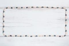 Πλαίσιο των μαργαριταριών με το διάστημα κειμένων Στοκ εικόνες με δικαίωμα ελεύθερης χρήσης
