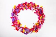 Πλαίσιο των πετάλων λουλουδιών Στοκ Εικόνα