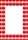 Πλαίσιο των ρουμπινιών Κόκκινο κιβώτιο με το διάστημα για το κείμενο πολύτιμοι λίθοι moonstone μεταλλείας ελεύθερη απεικόνιση δικαιώματος