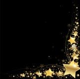 Πλαίσιο των χρυσών αστεριών Στοκ εικόνες με δικαίωμα ελεύθερης χρήσης