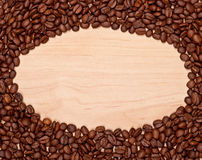 Πλαίσιο φασολιών καφέ Στοκ Φωτογραφία