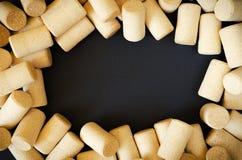 Πλαίσιο φελλού κρασιού Στοκ Εικόνα