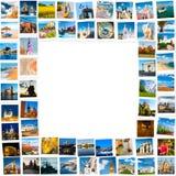 Πλαίσιο φιαγμένο από εικόνες ταξιδιού Στοκ Φωτογραφία
