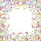 Πλαίσιο φιαγμένο από χρωματισμένο δίκτυο ελεύθερη απεικόνιση δικαιώματος