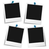 Πλαίσιο φωτογραφιών με την καρφίτσα ώθησης Στοκ εικόνες με δικαίωμα ελεύθερης χρήσης