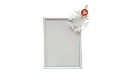 Πλαίσιο φωτογραφιών με snowflake Στοκ Εικόνες
