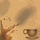 Πλαίσιο φλιτζανιών του καφέ Διανυσματική απεικόνιση