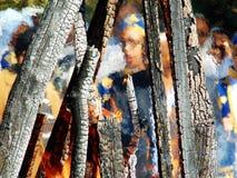 Πλαίσιο φλογών Στοκ φωτογραφία με δικαίωμα ελεύθερης χρήσης