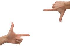 Πλαίσιο χεριών Στοκ φωτογραφία με δικαίωμα ελεύθερης χρήσης