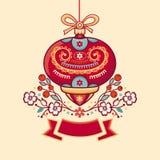 πλαίσιο Χριστουγέννων εύ&th Στοκ εικόνα με δικαίωμα ελεύθερης χρήσης