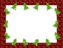 Πλαίσιο Χριστουγέννων με τα χριστουγεννιάτικα δέντρα Στοκ Φωτογραφία