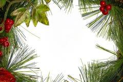 Πλαίσιο Χριστουγέννων με τις διακοσμήσεις και τις διακοσμήσεις Στοκ Φωτογραφία