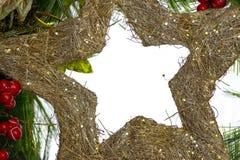 Πλαίσιο Χριστουγέννων με τις διακοσμήσεις και τις διακοσμήσεις Στοκ Εικόνα