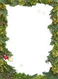 Πλαίσιο Χριστουγέννων των φυσικών κλαδίσκων thuja και Εβραίου Στοκ φωτογραφία με δικαίωμα ελεύθερης χρήσης