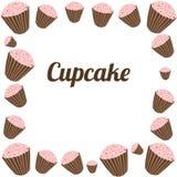 Πλαίσιο Cupcakes Στοκ φωτογραφίες με δικαίωμα ελεύθερης χρήσης