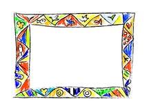 Πλαίσιο Doodles χρώματος Στοκ εικόνες με δικαίωμα ελεύθερης χρήσης