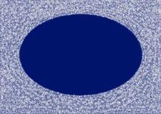 Πλαίσιο snowflakes στο μπλε υπόβαθρο Στοκ Εικόνες
