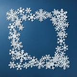 Πλαίσιο snowflakes Χριστουγέννων Στοκ Φωτογραφίες