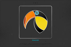 πλαίσιο toucan Στοκ φωτογραφίες με δικαίωμα ελεύθερης χρήσης