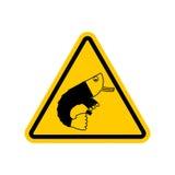 Πλαγκτόν γραφείων προσοχής Κίνδυνοι του κίτρινου οδικού σημαδιού ασβέστιο υπαλλήλων διανυσματική απεικόνιση