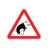 Πλαγκτόν γραφείων προσοχής Κίνδυνοι του κόκκινου οδικού σημαδιού υπάλληλος Cauti ελεύθερη απεικόνιση δικαιώματος