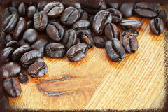 Πλαισιωμένα φασόλια καφέ Στοκ Φωτογραφία