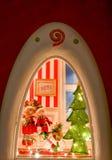 πλαισιωμένη σκηνή διακοπών ανασκόπησης Χριστούγεννα Στοκ Εικόνες